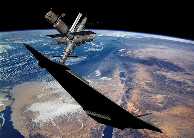"""Так могла выглядеть стыковка МГ-19 с орбитальным комплексом """"Мир""""; 3D-моделирование Андрея Маханько"""
